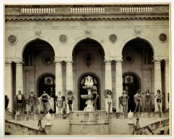 Fashion show in the 1930's - La mansion Pollack, Cuba.