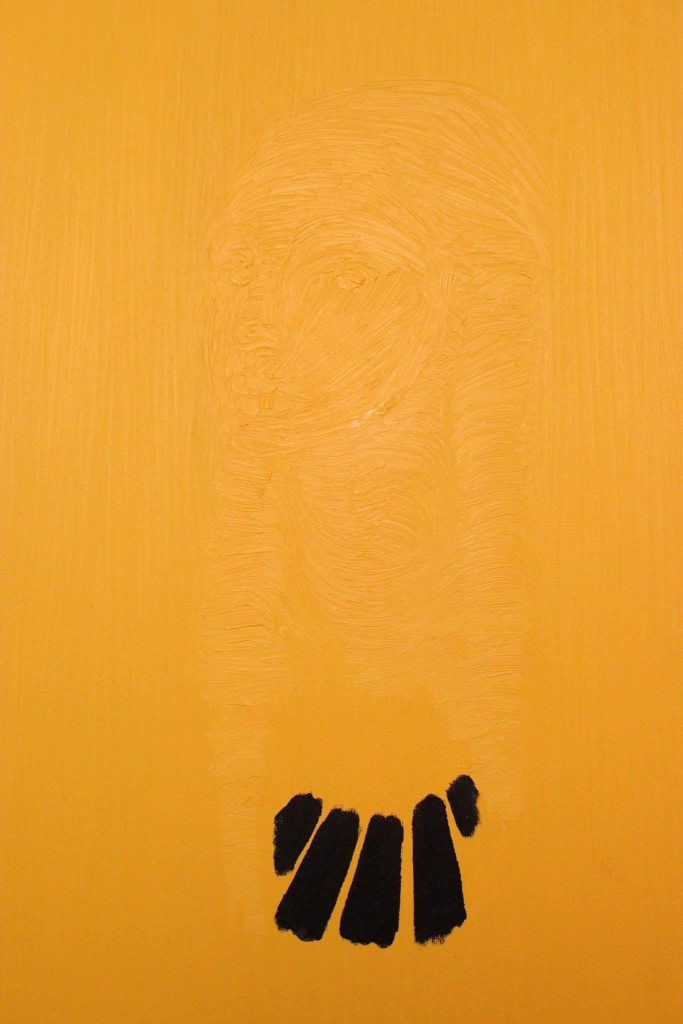 """""""Donna con nero collana"""" 2013 olio sul tela, 50X60"""