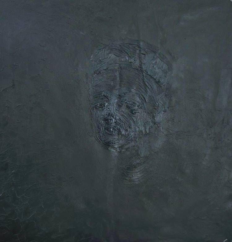 """""""Uomo con capello nero"""" 2013 olio sul tela, 70X70"""