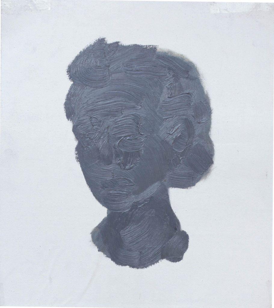 """""""Ritratto grigio"""" 2014 olio sul tela, 30X40"""