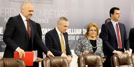 L'Incontro tra Rama, Basha e l'ambasciatore americano Donald Lu.