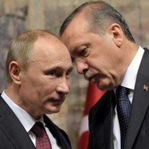 Vladimir Putin ed Recep Tayyip Erdoğan.