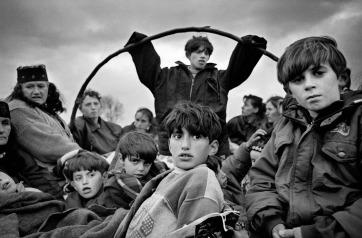 Albania Kosovo, campo rifugiati, 1999.