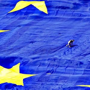 La bandiera europea.
