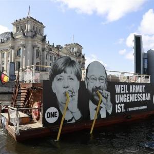Angela Merkel e Martin Schulz.