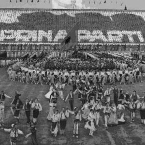 Festeggiamenti nello Stadio di Tirana.